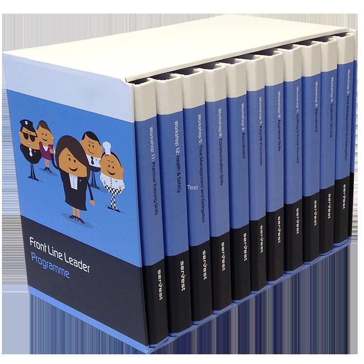 Mini binders in a case